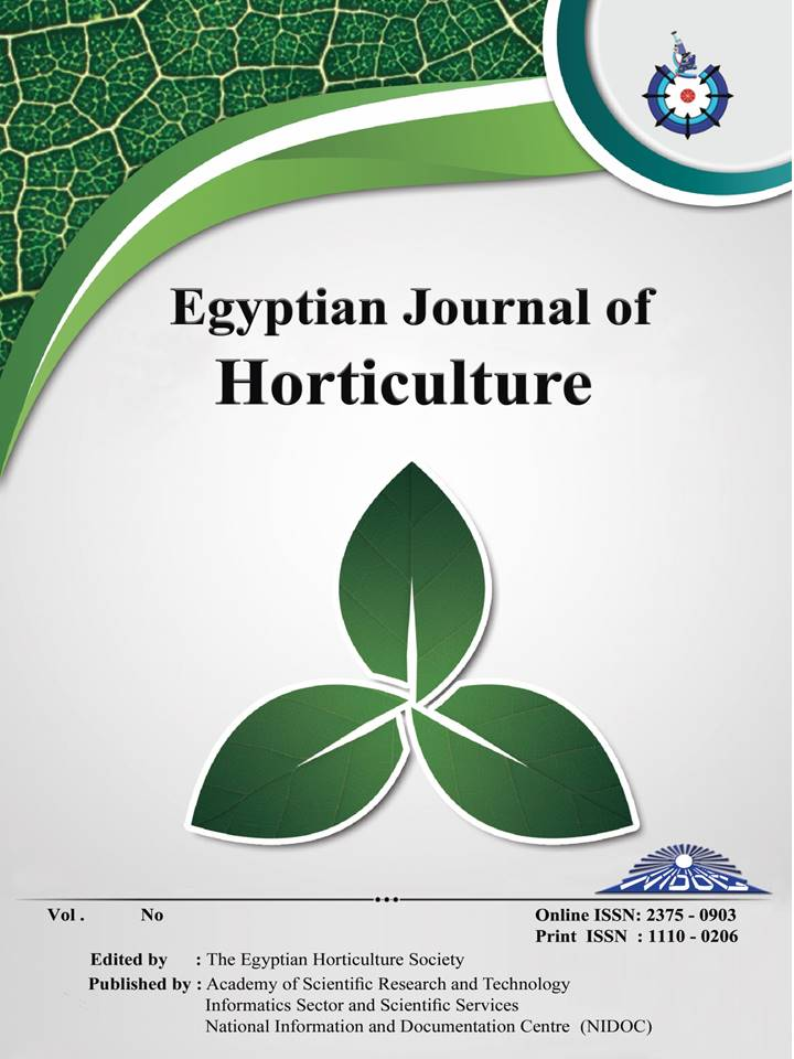 Egyptian Journal of Horticulture